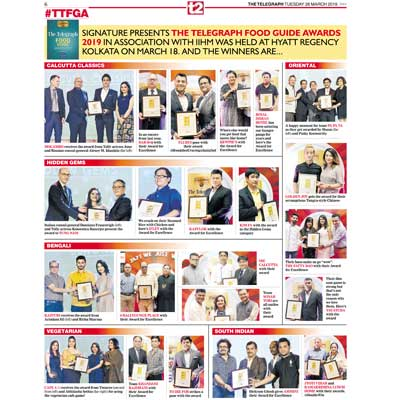 6 Ballygunge Place wins Award for Excellence at The Food Guide Awards