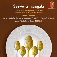 Durga Pujo Special Menu at 6 Ballygunge Place