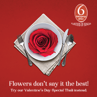 Valentine's Day Special Thali at 6 Ballygunge Place